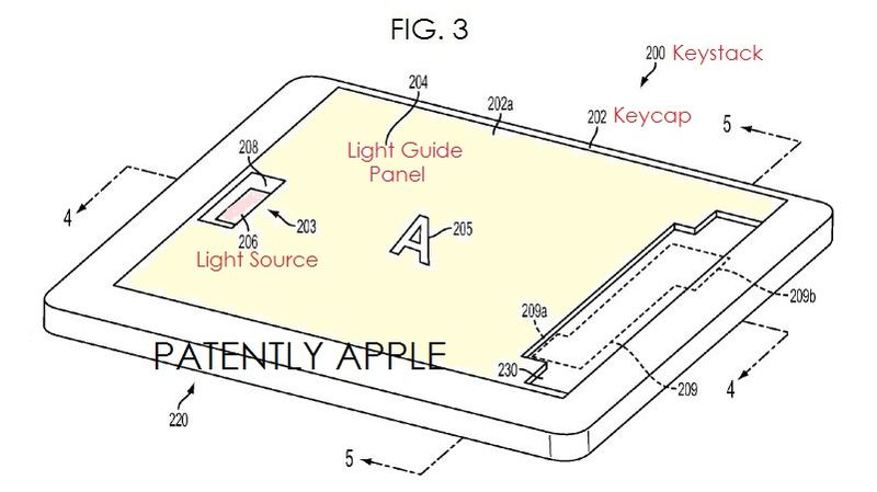 3. Apple illuminated keys patent fig. 3
