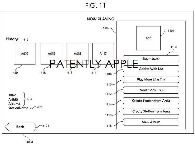 3. Second Patent on Carplay UI patent fig. 11
