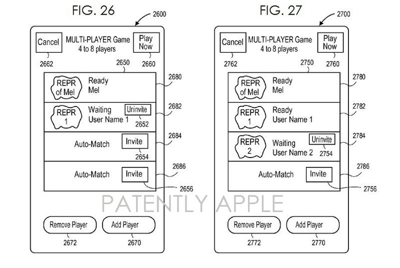 2AF APPLE Game Center Granted patent figus 26 & 27