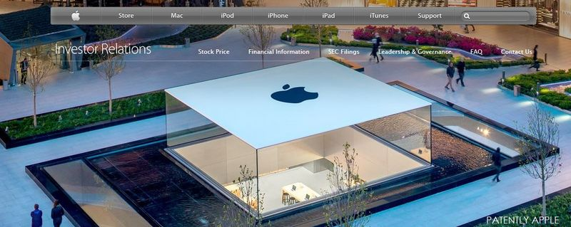 1 Apple's new Investor Relations webpage