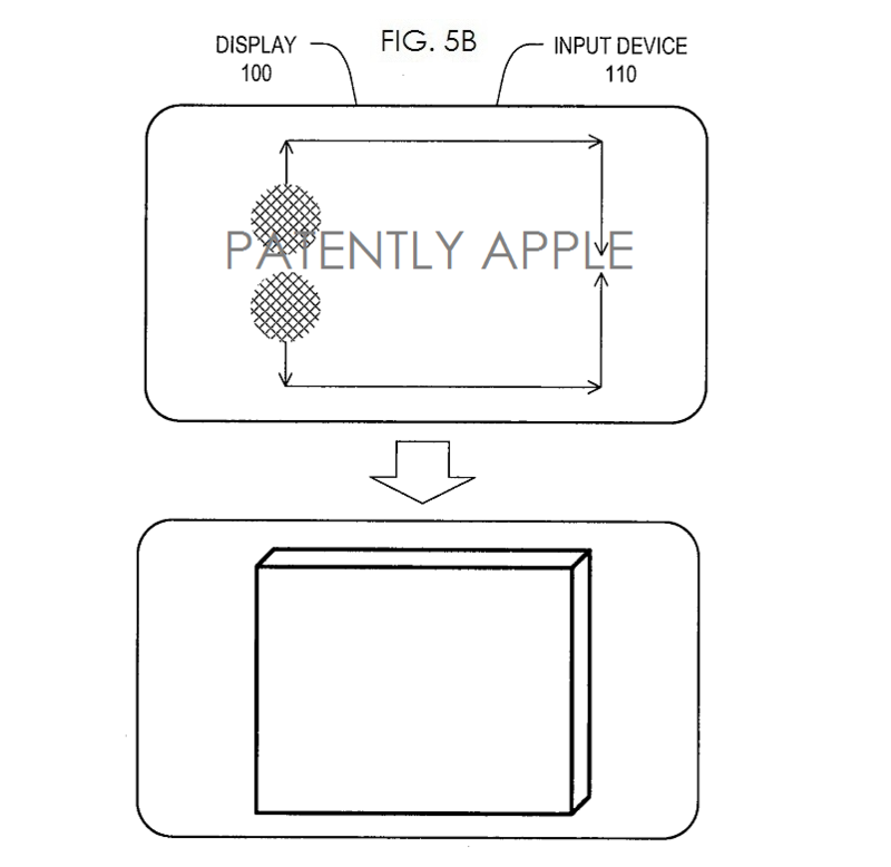 3AF - Apple wins patent for Multi-touch drawing fig. 5b