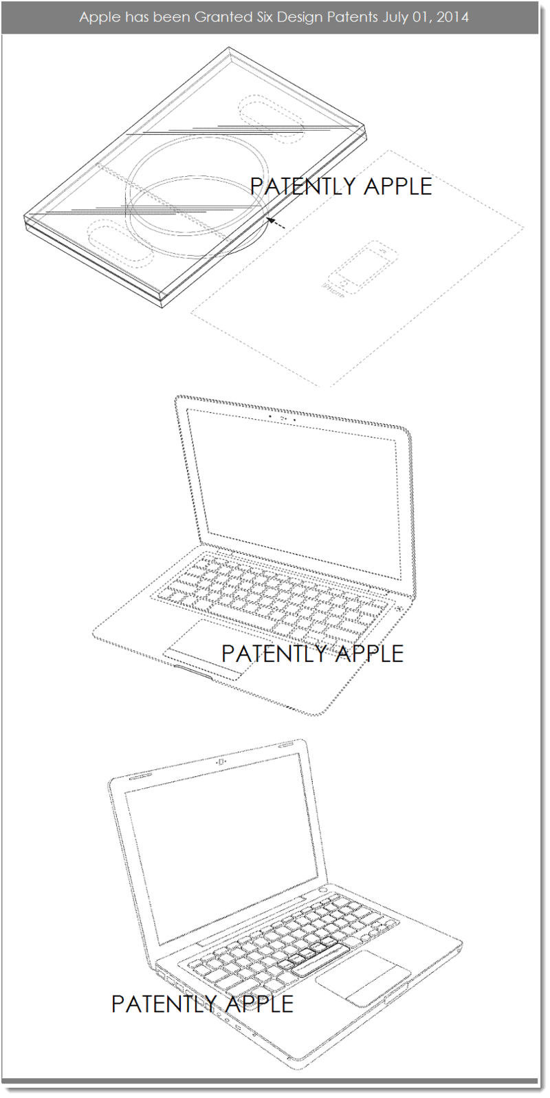 6AF - APPLE GRANTED 6 DESIGN PATENTS JULY 1, 2014