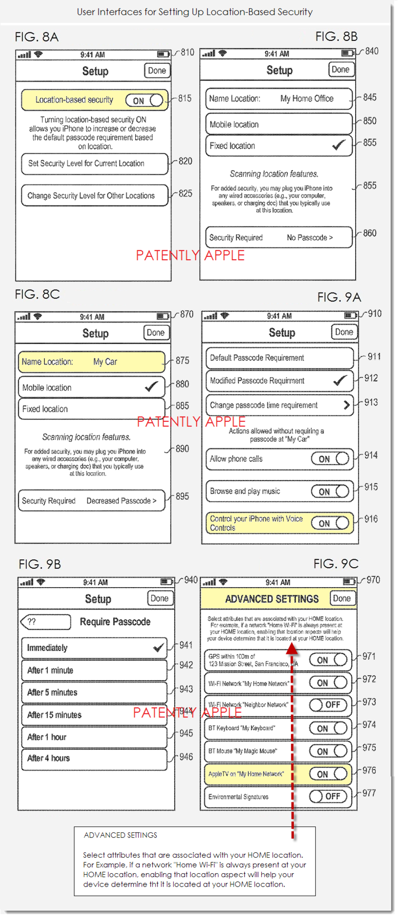 3AF FINAL - USER INTERFACES FOR LOCATION-BASED SECURITY - APPLE FIGS 8ABC & 9ABC
