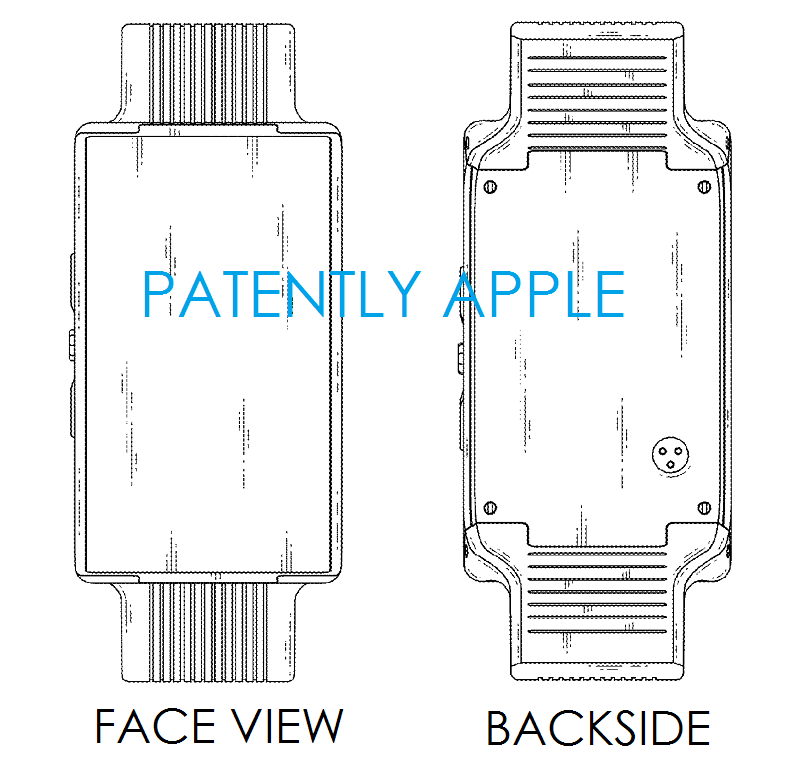 1AF COVER LG PHONE WATCH GRANTED DESIGN PATENT FIGS 6 & 7