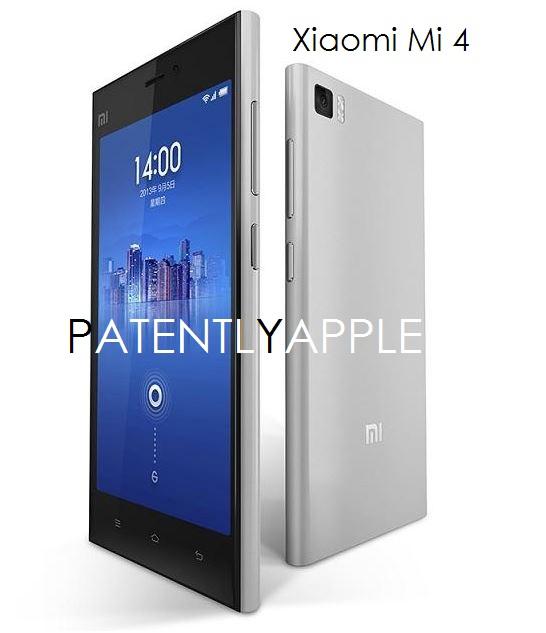 2AF Xiaomi Mi 4 smartphone