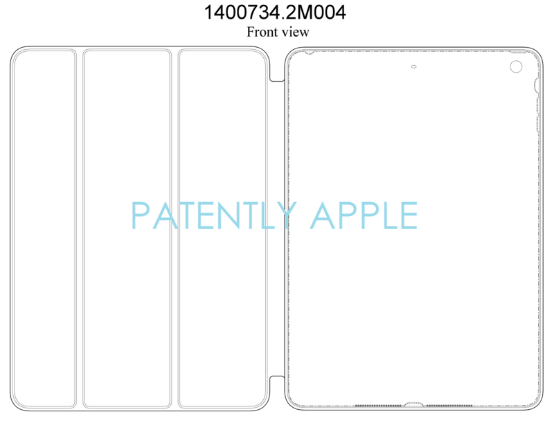 4AF - CHINA GRANTS APPLE DESIGN PATENT FOR IPAD CASE FRONT VIEW