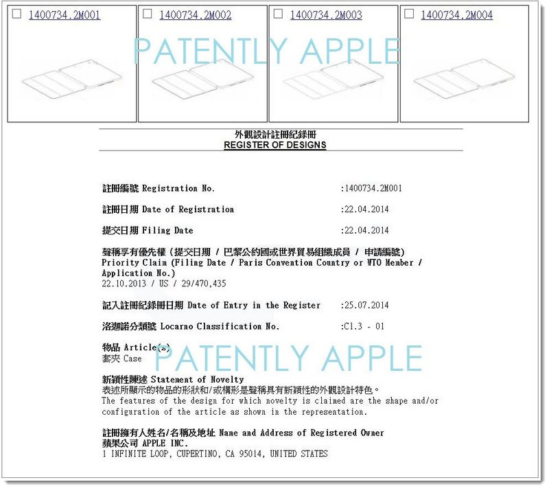 7AF ipad smart cases are now registered designs in China