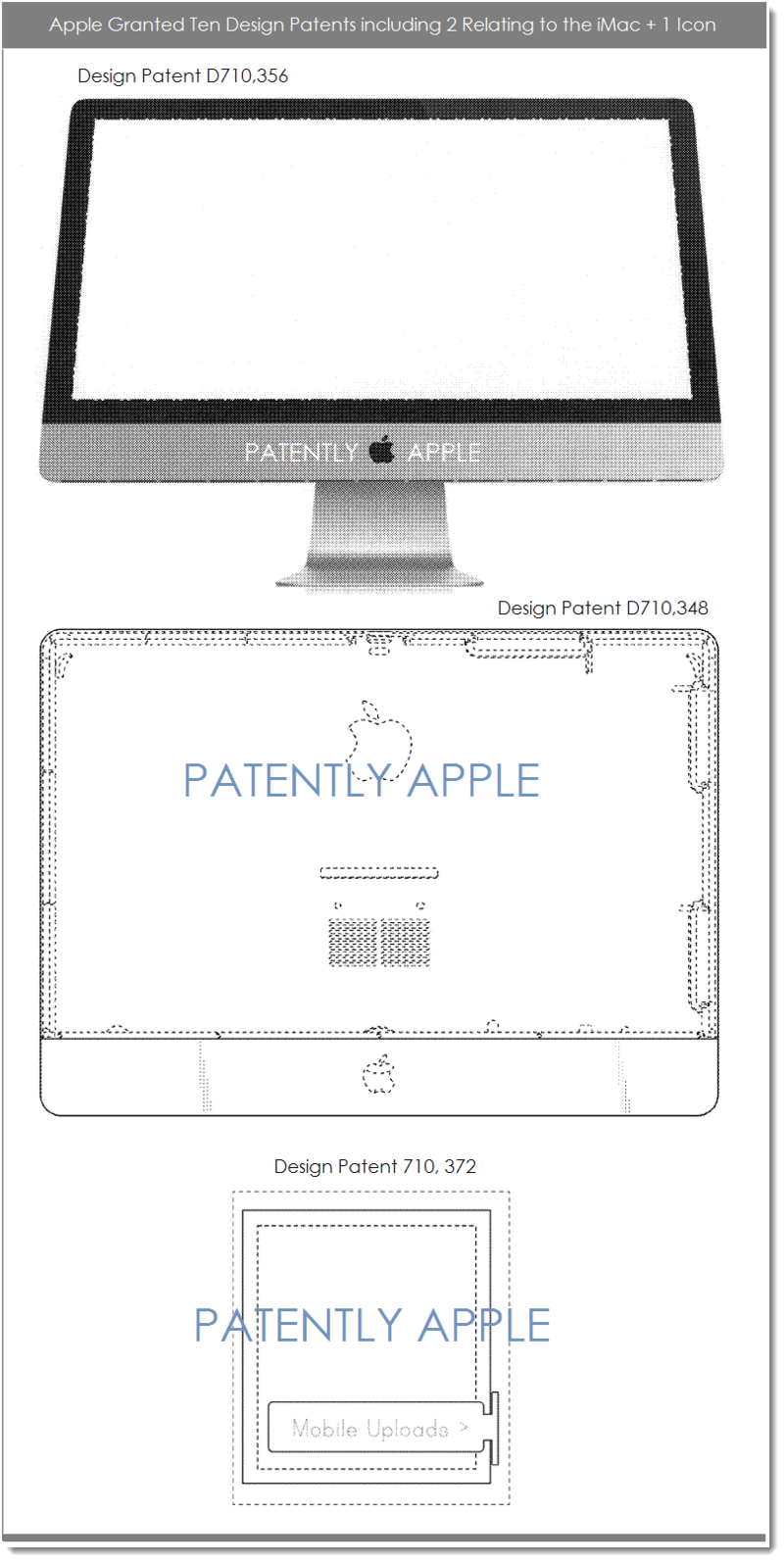 5AF APPLE GRANTED 10 DESIGN PATENTS INCLUDING IMAC AND ICON