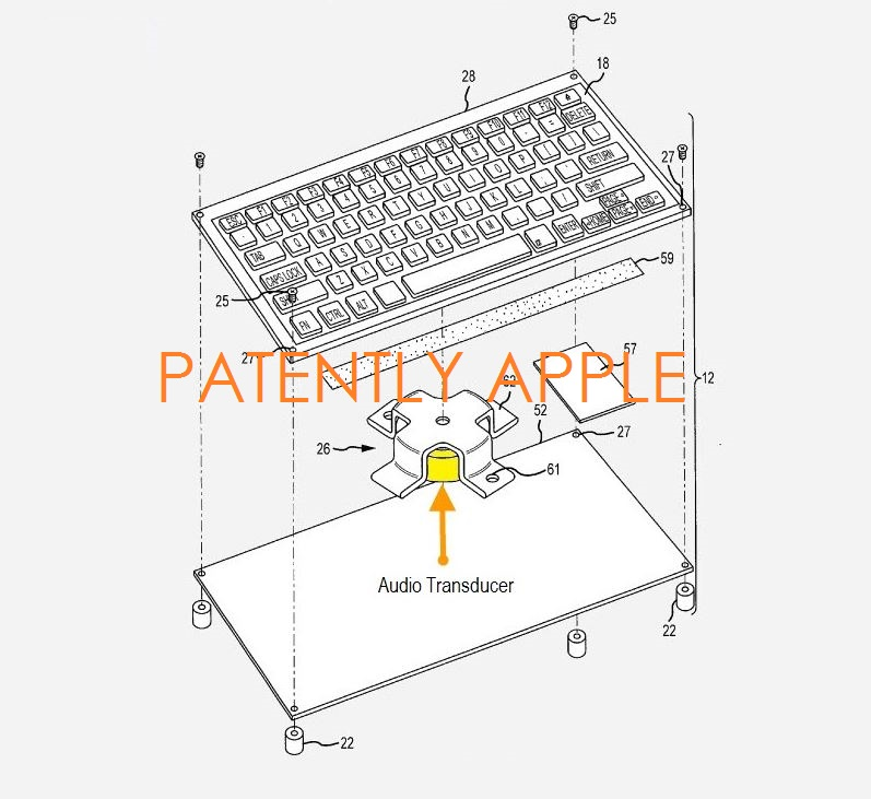 3AF APPLE GRANTED PATENT FOR AUDIO TRANSDUCER