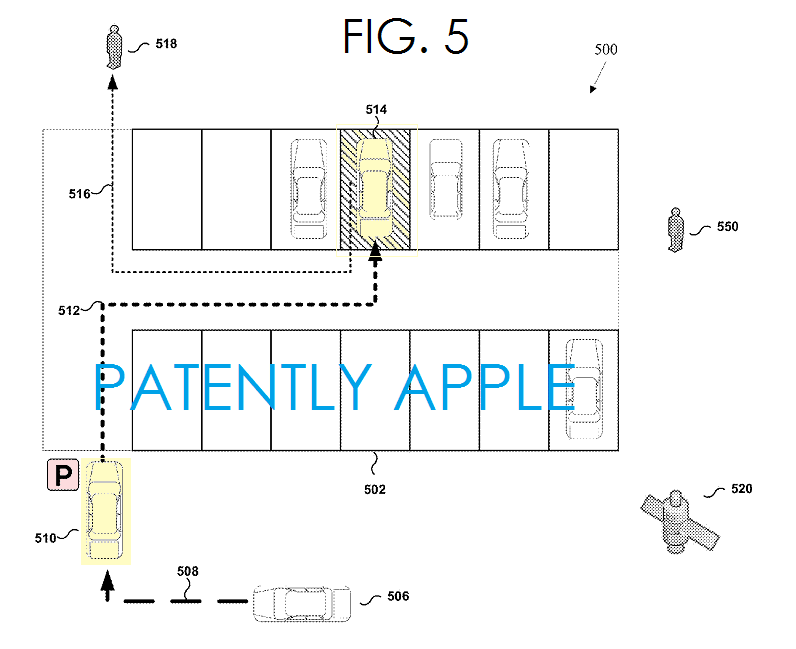 4AF - Apple indoor, outdoor parking patent FIG. 5