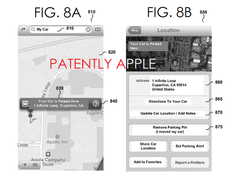 6AF - Apple indoor parking patent FIGS 8A,B