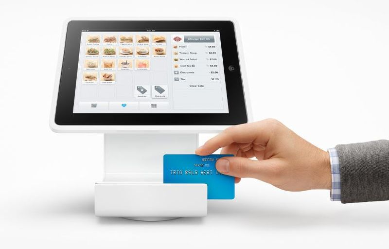 2 Square's iPad cash register