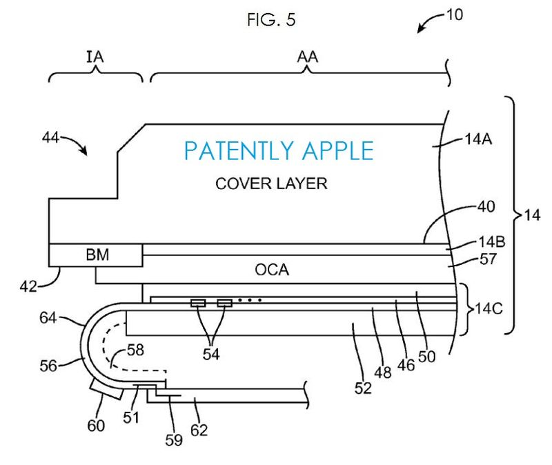2. Apple flex display, patent fig. 5