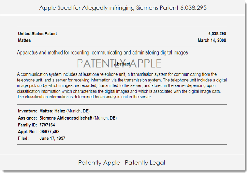 2. patent in this case that Apple allegedly infringes