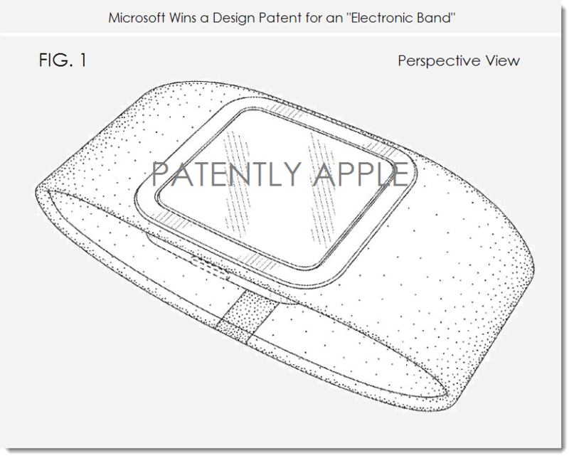 2 PA-V. MSFT ELECTRONIC BAND DESIGN PATENT WIN MAR 25, 2014