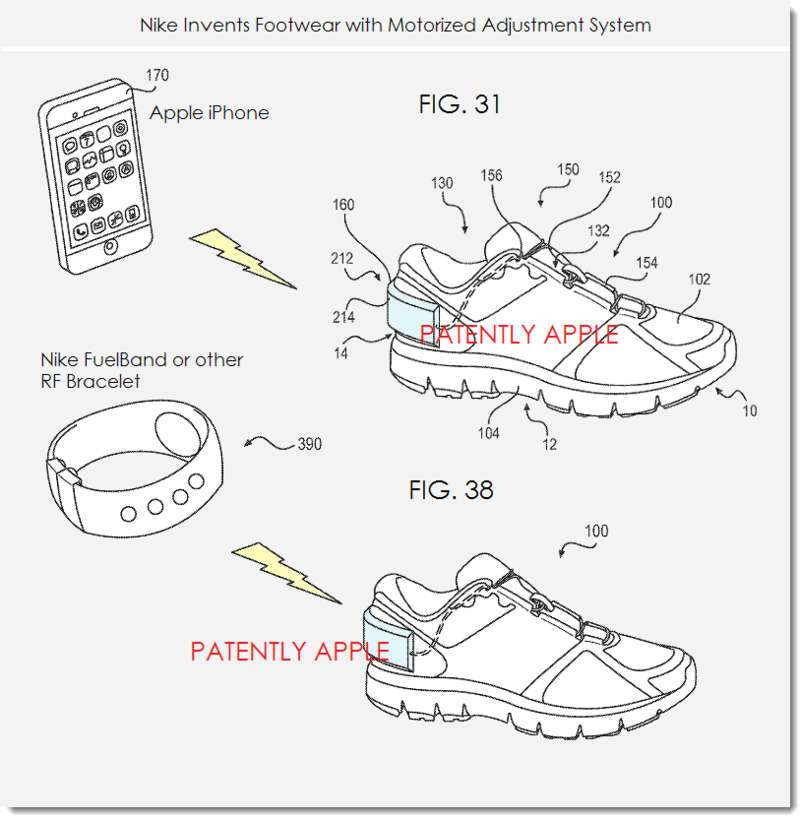 2. Nike Patent covers Nike + iPod system connection