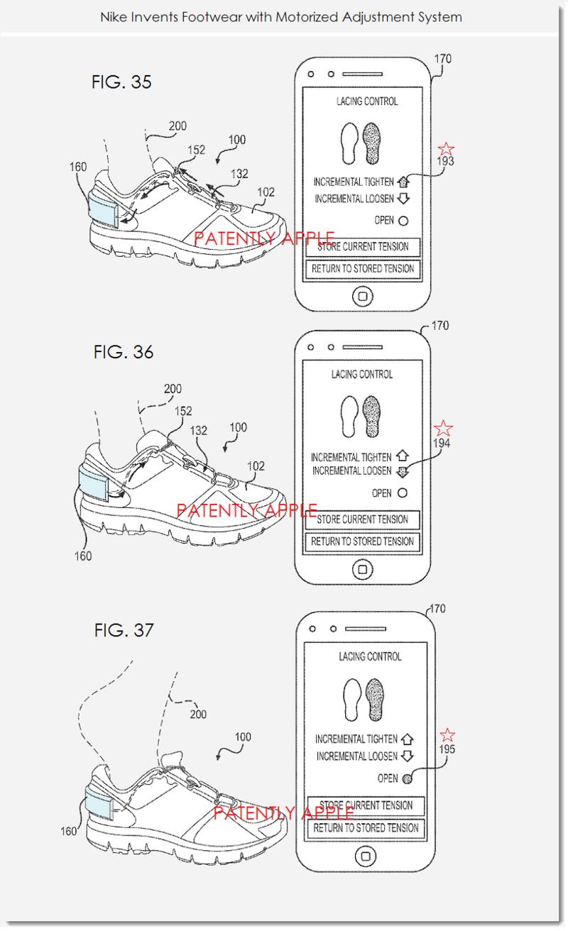 5. Nike patent figs. 35, 36, 37 Nike +