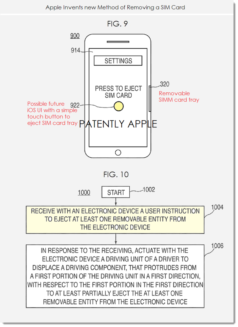 2. Apple figs. 9&10 new SIM Card ejection system