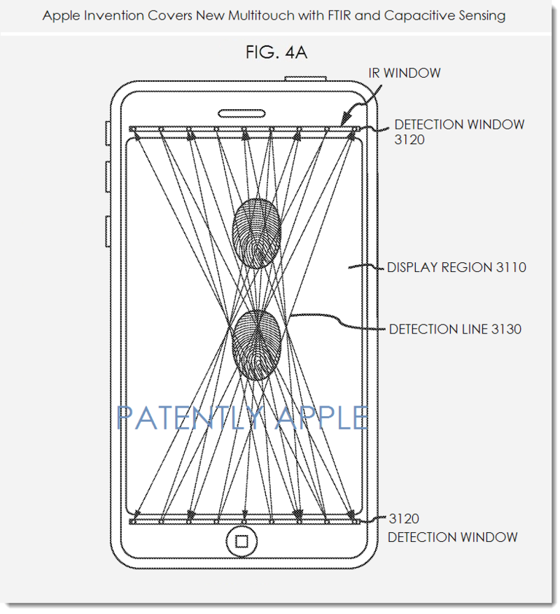 2. Apple fig. 4a  - Multitouch with FTIR and Capacitive Sensing