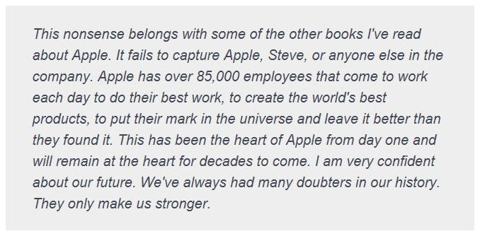 2. CNBC EMAIL FROM TIM COOK CEO OF APPLE