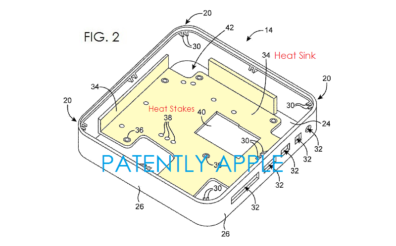 3. Apple patent fig. #2 illustrates large heat sink
