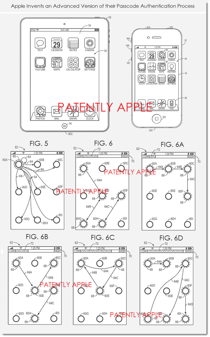 2. Apple patent figs 2,3, 5, 6, 6abcd