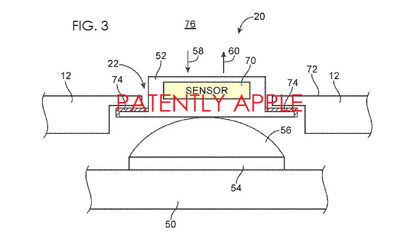 2. Apple environmental sensor set off with button option, fig. 3