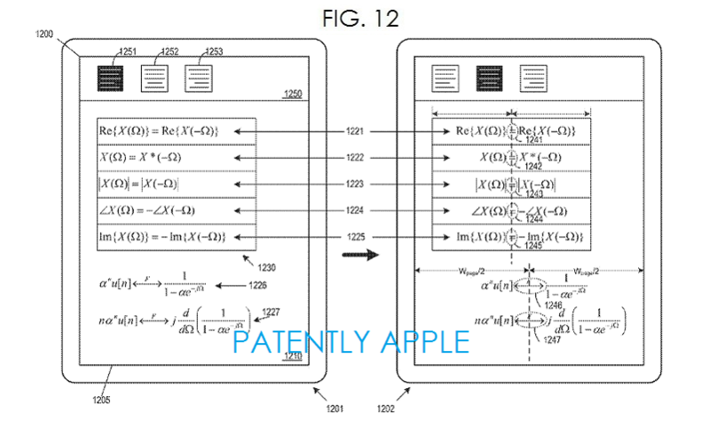 6. Apple patent - math app fig. 12