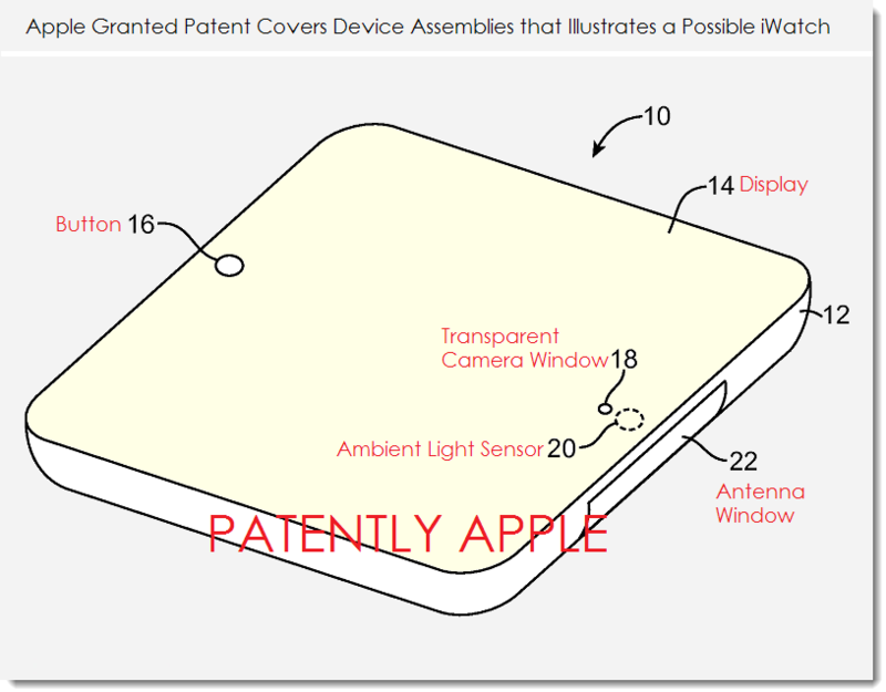 2AF - Apple fig. 1 illustrates a possible iWatch concept