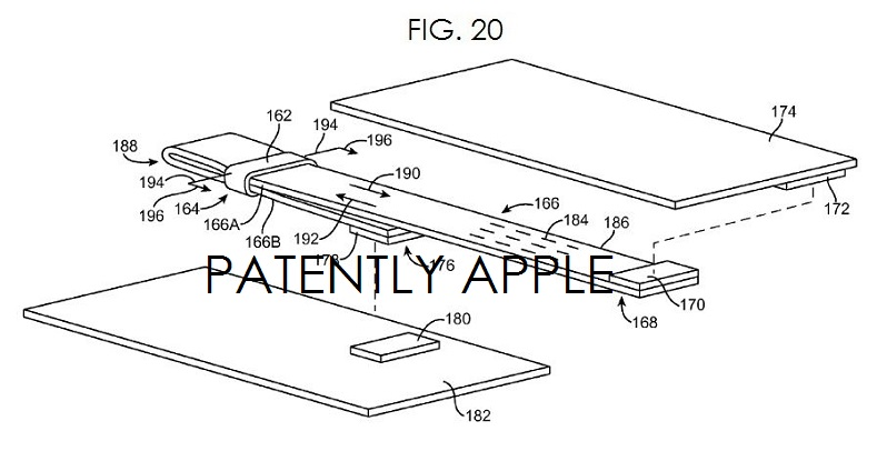 5AF. Apple patent fig. 20 flex circuit