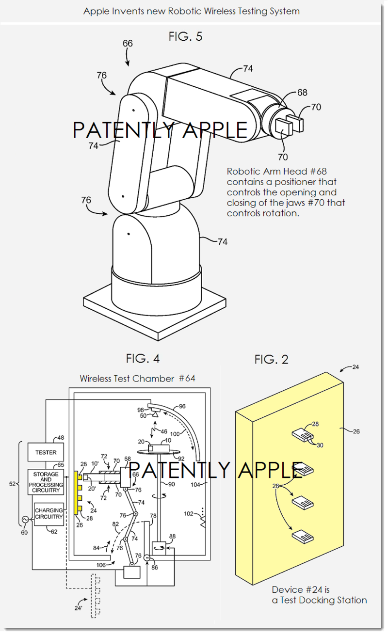 2AF - APPLE'S ROBOTIC WIRELESS TESTING SYSTEM FIGS. 2, 4 &,5