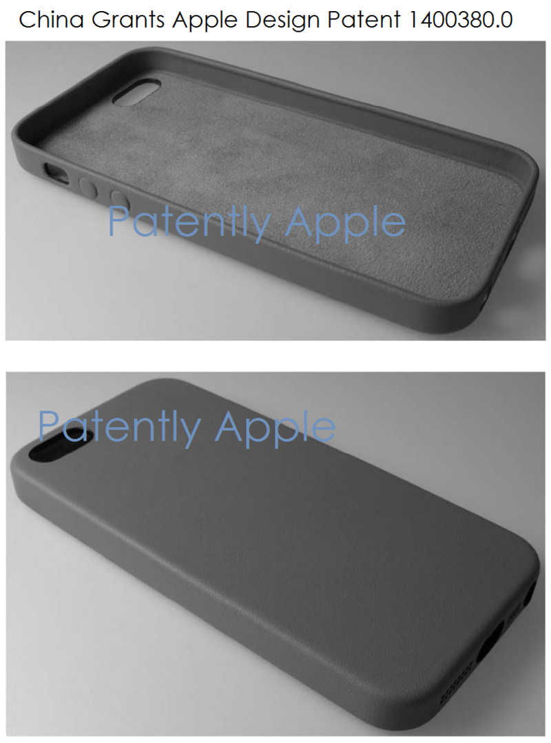 2AF2. Apple wins design patent 1400380.0 in China for an iDevice - perspectives 1 & 2