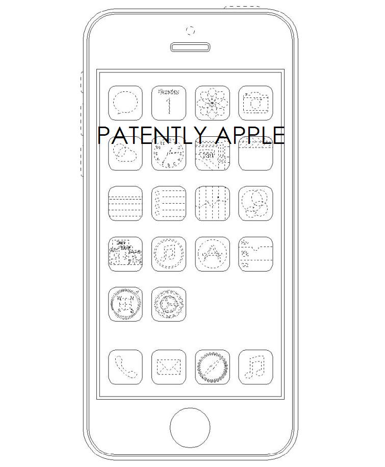 4AF.  Apple B-W - IPHONE DESIGN WITH ICONS - 86322577