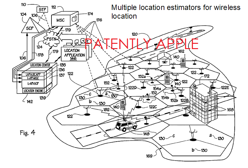 3af, patent 8,032,153 - FIG. 4 TracBeam patent in lawsuit against Apple