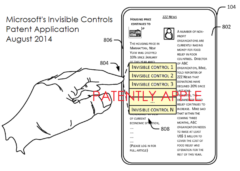 1.5 AF PA - Microsoft's Invisible Controls Patent Application FIG. 8B