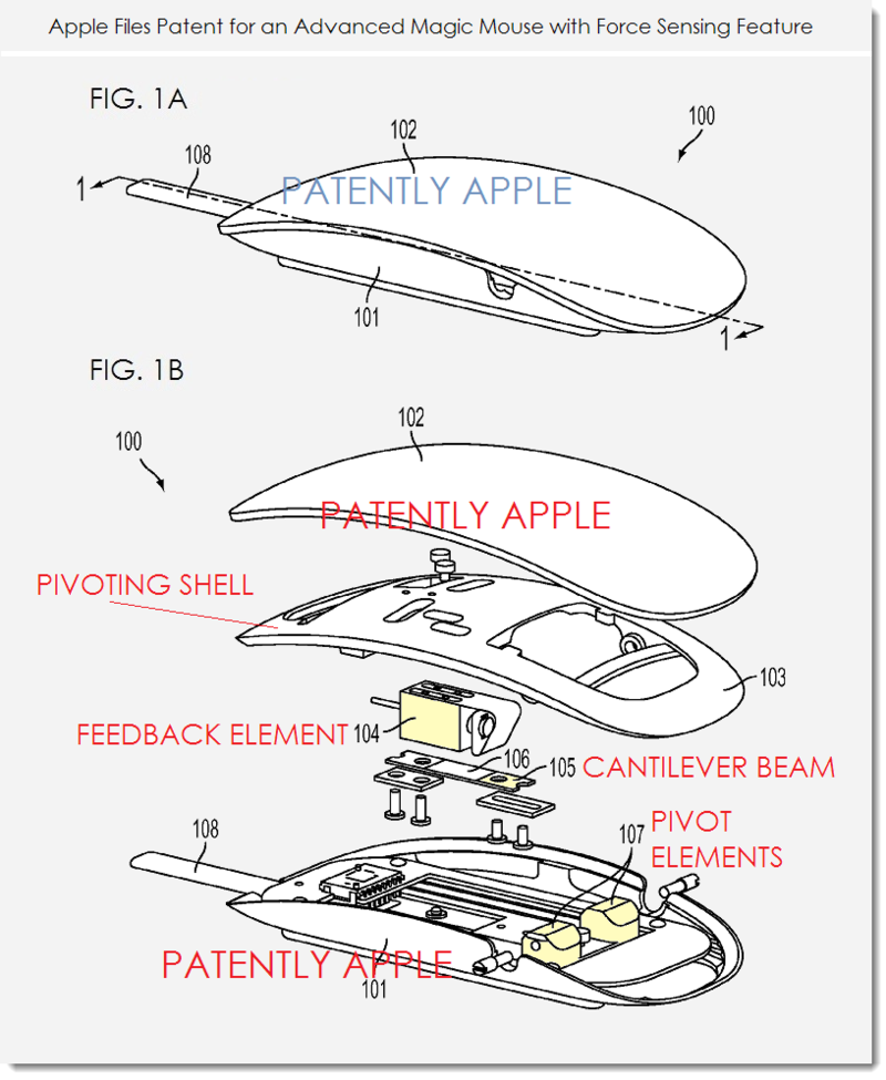 2AF - FUTURE MAGIC MOUSE WITH FORCE SENSING FEATURE FIGS. 1A,B AUG 2014