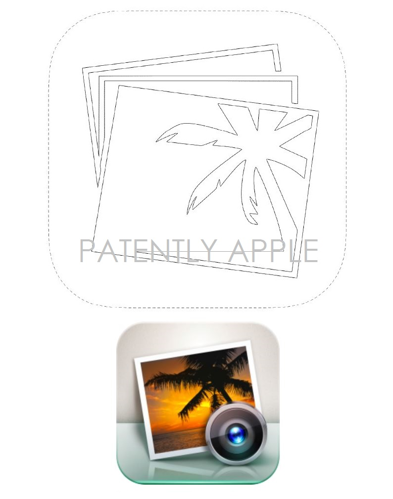 5AF ios icon for iPhoto granted patent
