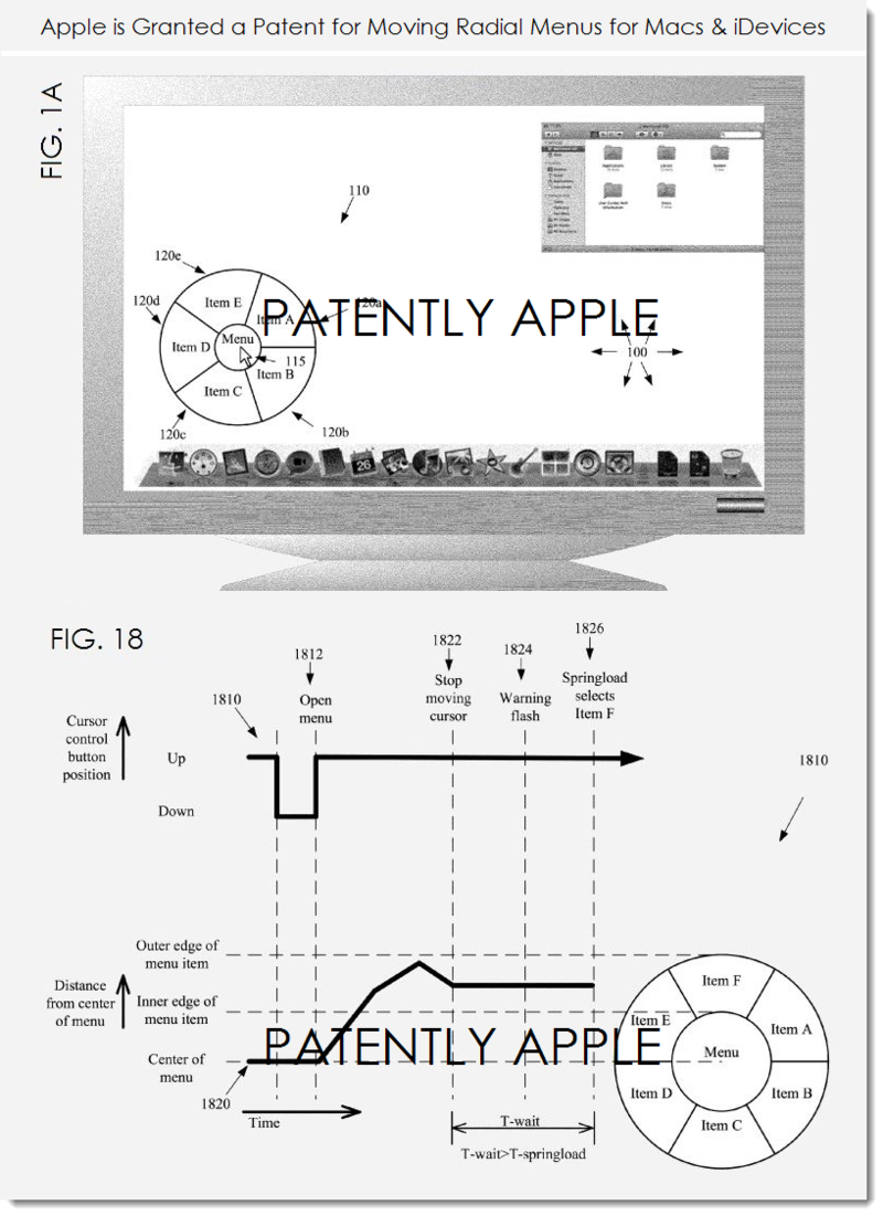 2AF - APPLE GRANTED PATENT FOR MOVING RADIAL MENUS FOR MACS AND IDEVICES
