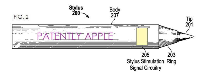 2AF - Apple Stylus invention FIG. 2