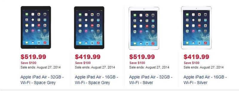 1AF - IPAD AIR SALE AT BEST BUY CANADA FOR BACK TO SCHOOL