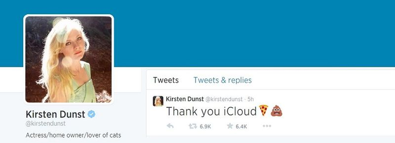 3AF - KRISTEN DUNST TWEET AGAINST APPLE