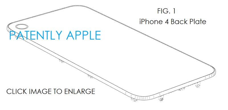 5AF  - IPHONE 4 BACK PLATE DESIGN PATENT