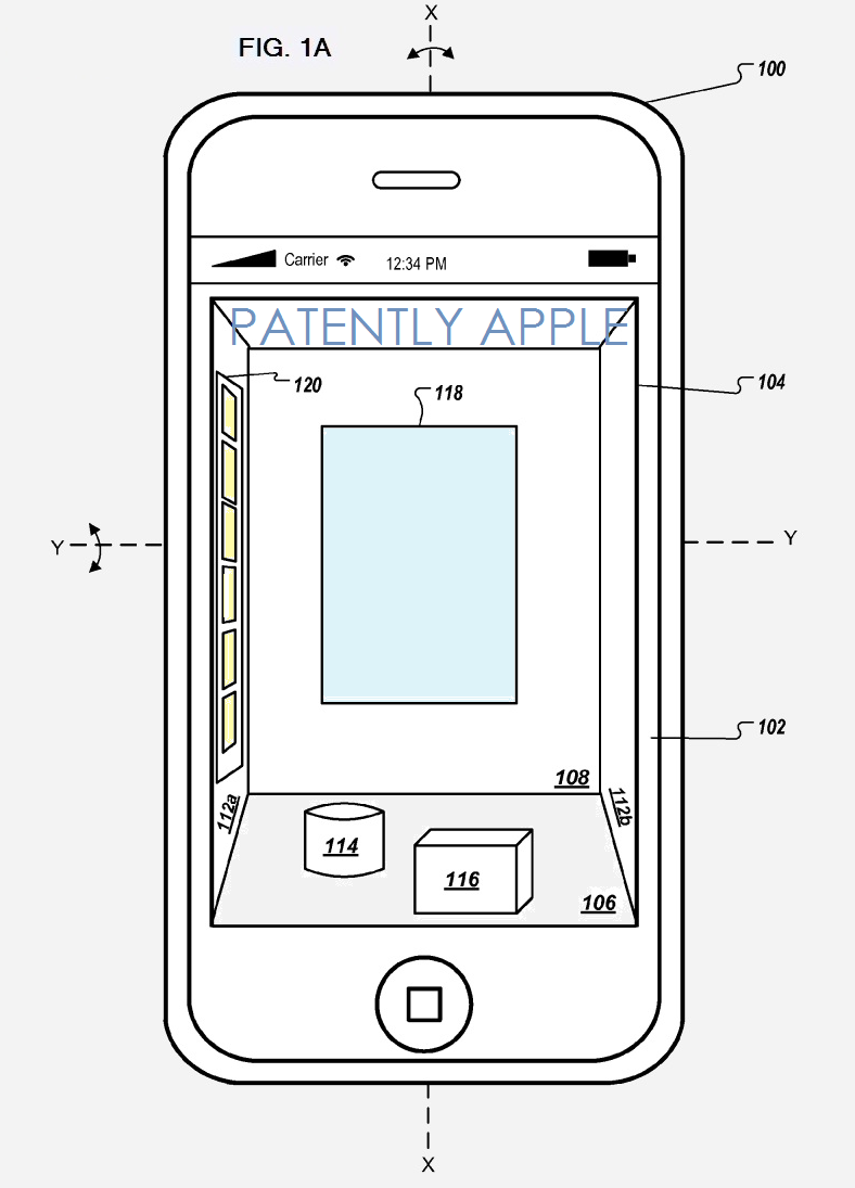 2AF2 - LIVE 3D UI FOR IDEVICES, APPLE PATENT