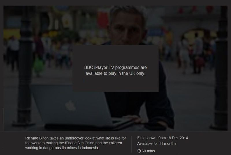1 extra - iPlayer doesn't work in North America