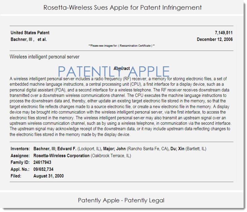 2af rosetta wireless sues apple