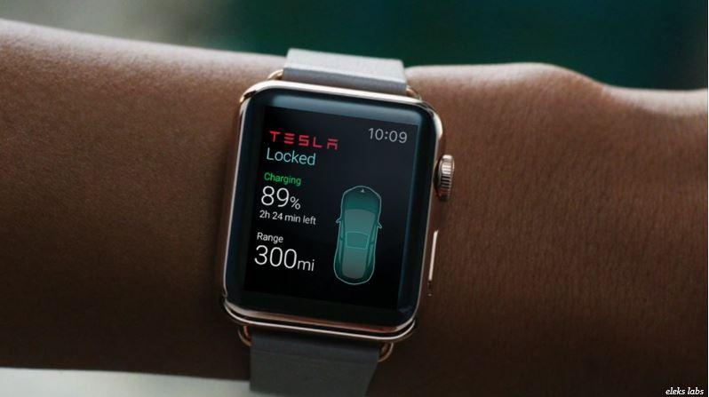 2aa extra tesla apple watch app