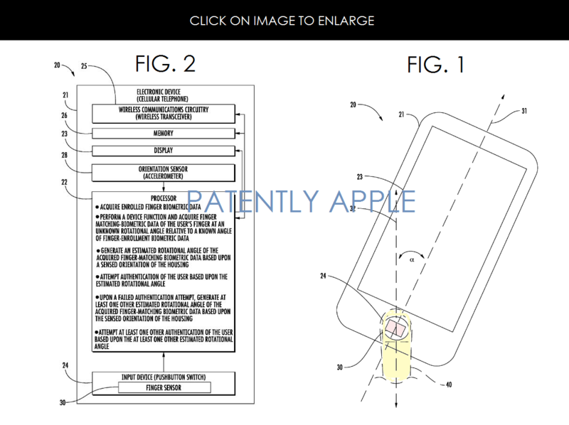 3AF 2 BIOMETRIC APPLE PATENT