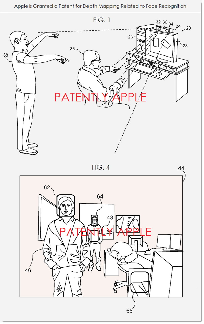2AF 22 DEPTH MAPPING RELATED TO FACE RECOGNITION PATENT, APPLE