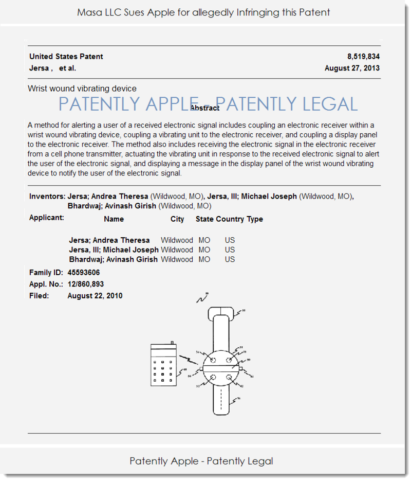 2AF 55 PATENT IN LAWSUIT AGAINST APPLE