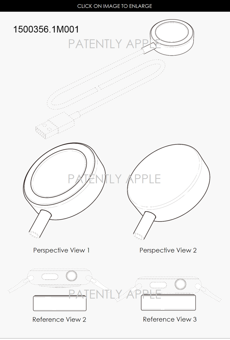 2.0 APPLE WATCH CHARGER DESIGN PATENT HONG KONG FOR APPLE